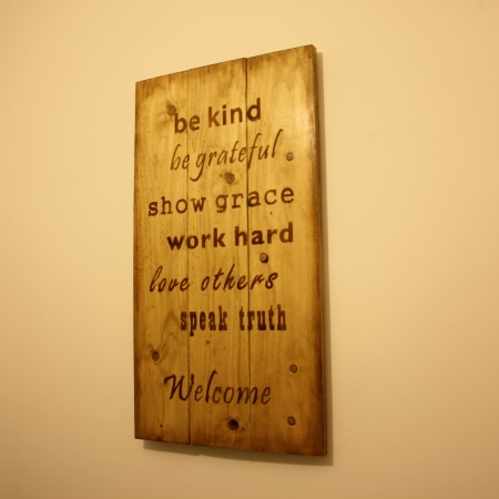 Welcome Wall Decor woodesign